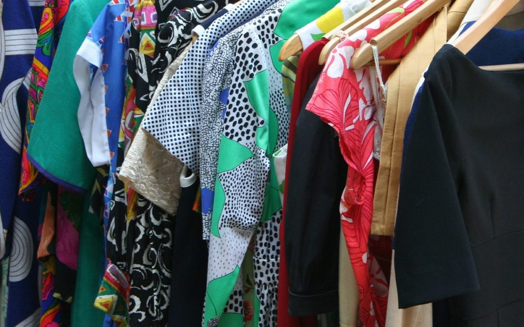 Details of a Well Organized Closet